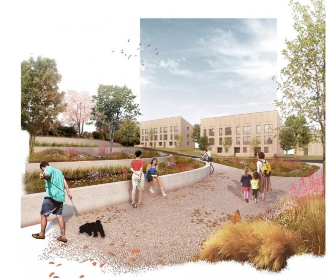 Artist's impressions of the first phase of £80m plans to revamp Hamiltonhill