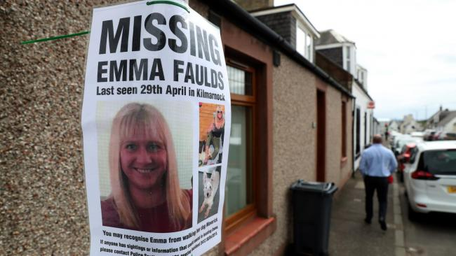 Human remains found are that of missing woman Emma Faulds, police confirm