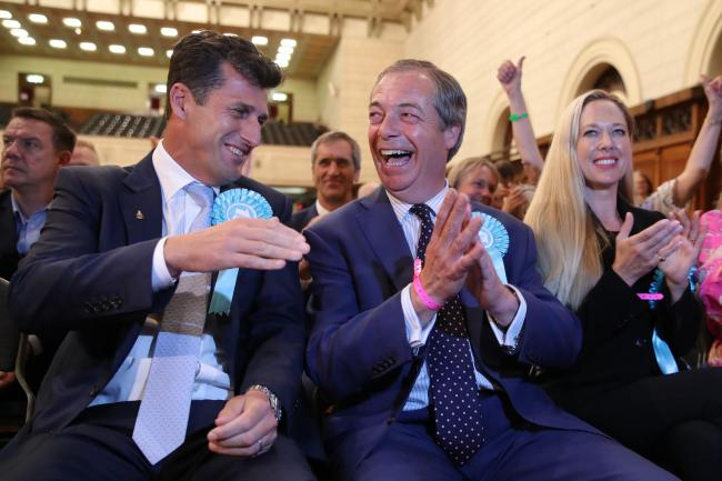 Tories humiliated as Nigel Farage's Brexit Party surges to European election victory