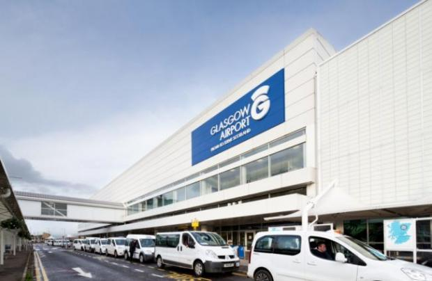 Glasgow Times: The co-pilot was treated by medics at Glasgow Airport