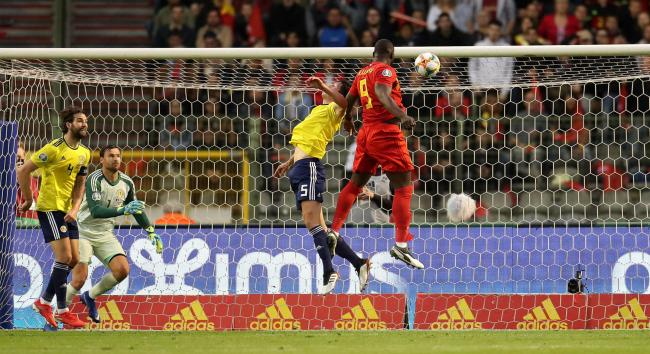 Belgium's Romelu Lukaku scores his side's first goal of the game during the UEFA Euro 2020 Qualifying, Group I match at the King Baudouin Stadium, Brussels. PRESS ASSOCIATION Photo. Picture date: Tuesday June 11, 2019. See PA story SOCCER Belgium