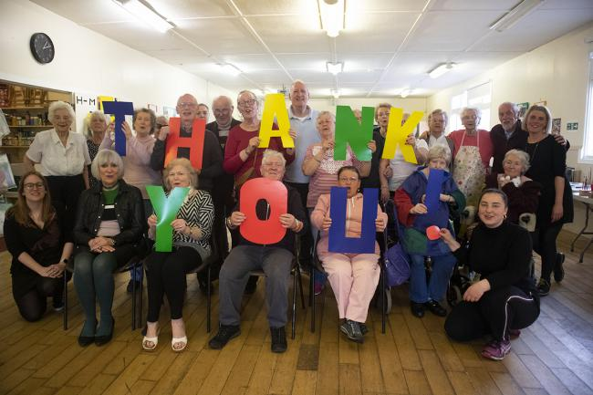 Members of Govan's Craft Cafe celebrate the funding boost.