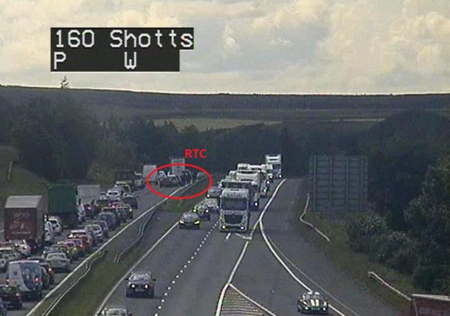 Traffic news live: Multiple vehicle accident on the M80